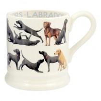 Half Pint Mug Labrador All Over