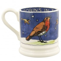 Half Pint Mug Robins in the Snow
