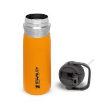 The IceFlow Flip Straw Water Bottle 0,65L Saffron