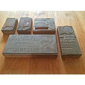 Vintage Printing Blocks Electricity