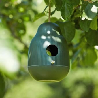 Vogelvoeder huisje Bamboe Jagersgroen
