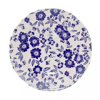 10 1/2 inch Plate Blue Calico Accent