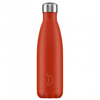Chilly's Bottle Neon Red 500ml
