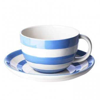 Cappucino Cup and Saucer Cornish Blue