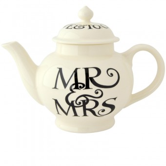 4 Cup Teapot Black Toast Mr & Ms