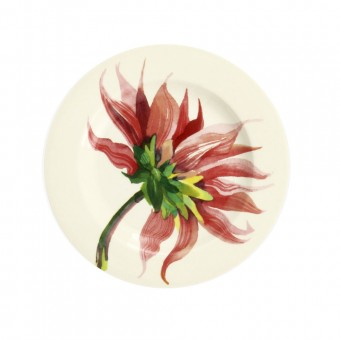 6 1/2 Inch Plate Flowers Pink Dahlia