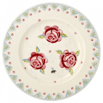 8 1/2 Inch Plate Rose & Bee