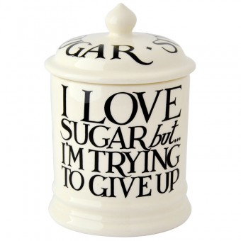 Storage Jar Sugar Black Toast