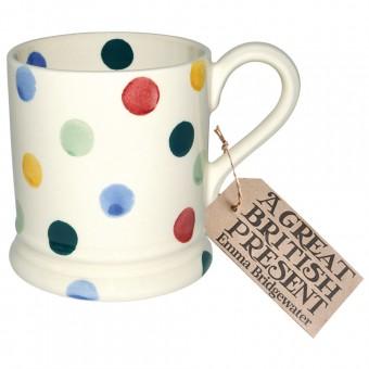 Half Pint Mug Polka Dots