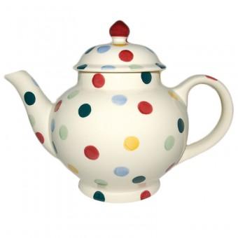 4 Cup Teapot Polka Dots