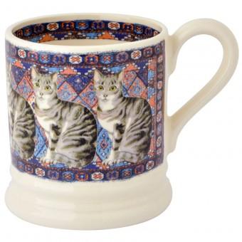 Half Pint Mug Cat Siver Tabby