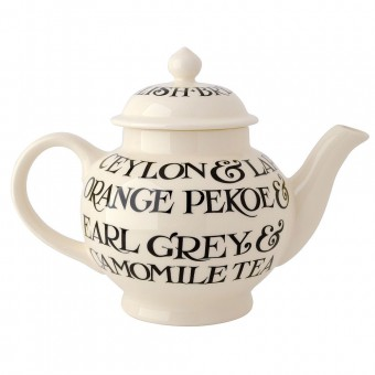 4 Cup Teapot Black Toast All Over