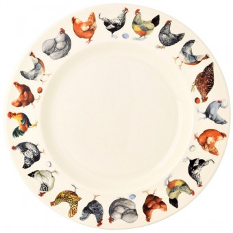 10 1/2 Inch Plate Hen & Toast