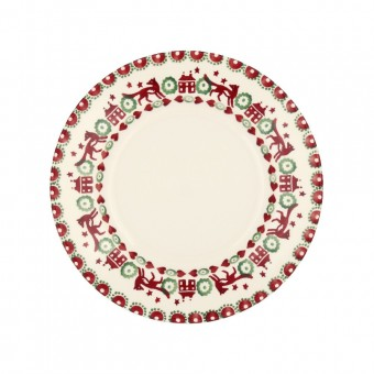 8 1/2 Inch Plate red & Green