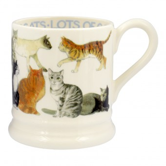 Half Pint Mug All Over Cats