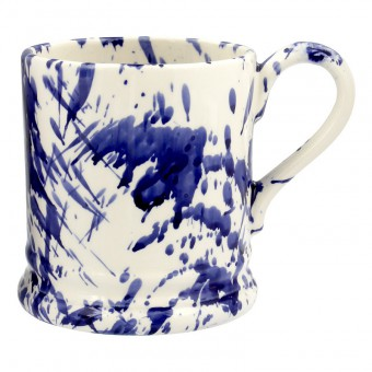 Half Pint Mug Blue Splatter
