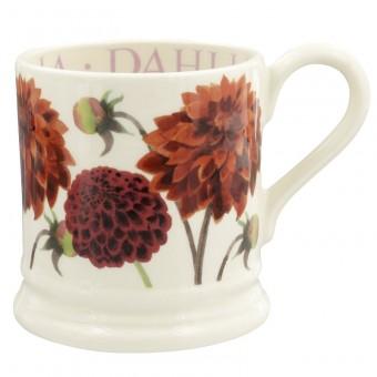 Half Pint Mug Flowers Dahlia