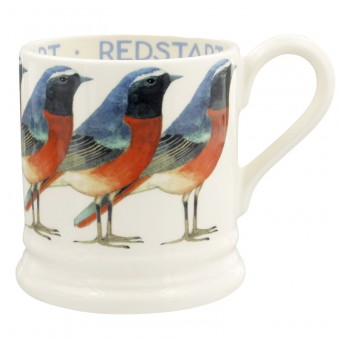 Half Pint Mug Birds Redstart