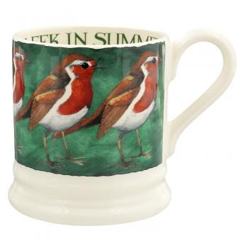Half Pint Mug Robin on the Green
