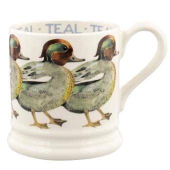 Half Pint Mug Birds Teal