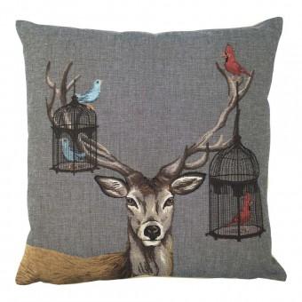 Gobelin Kussen Funky Deer Kooi