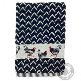 Handdoek Kip Zwart