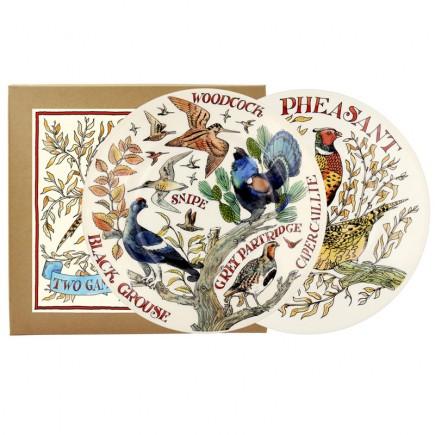 8 1/2 Inch Plates Game Birds (set)