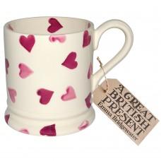 Half Pint Mug Pink Hearts