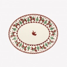 Small Oval Plate Christmas Joy