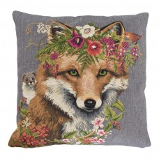 Gobelin Kussen Flower Fox